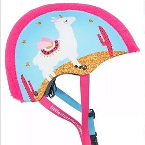 Bicycle Helmet little miss matched Llama new